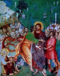 Judas Betraying JesusAssisi Church Fresco